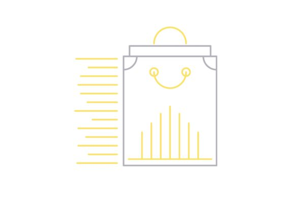Print on Demand: Bag Graphic Icons By Iconika