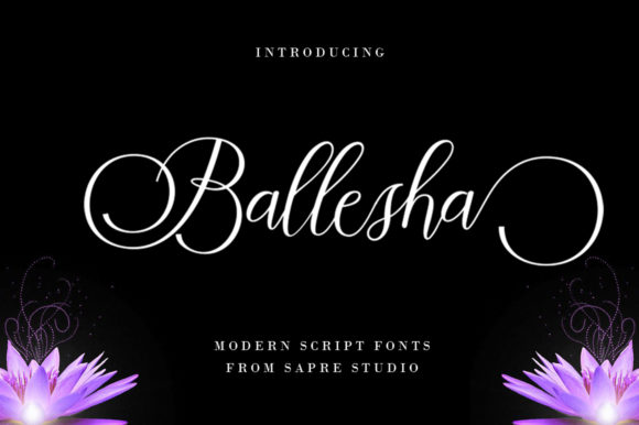 Print on Demand: Ballesha Script & Handwritten Font By sapre.studio - Image 1