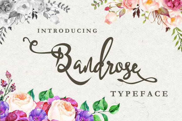 Print on Demand: Bandrose Family Script & Handwritten Font By leamsign