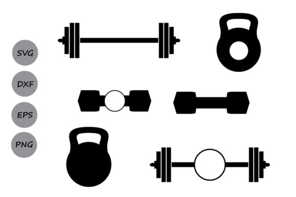 Download Free Barbell Monogram Graphic By Cosmosfineart Creative Fabrica for Cricut Explore, Silhouette and other cutting machines.