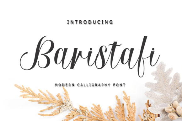 Print on Demand: Baristafi Script Script & Handwritten Font By rastype1010