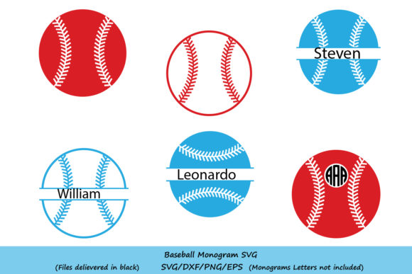 Download Free Baseball Monogram Svg Graphic By Cosmosfineart Creative Fabrica for Cricut Explore, Silhouette and other cutting machines.
