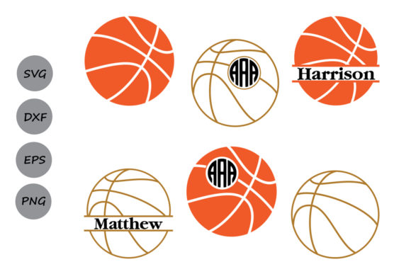 Download Free Basketball Monogram Graphic By Cosmosfineart Creative Fabrica for Cricut Explore, Silhouette and other cutting machines.