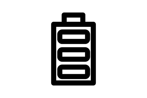 Download Free Battery Icon Vector Graphic By Rudezstudio Creative Fabrica for Cricut Explore, Silhouette and other cutting machines.