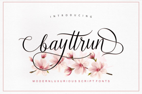 Print on Demand: Bayttrun Script Script & Handwritten Font By Encolab