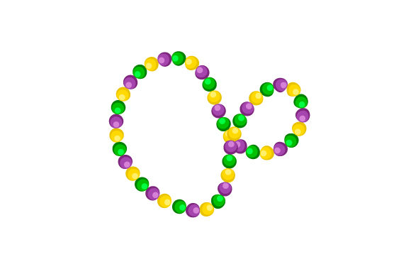 Beads in Festival Colors Mardi Gras Craft Cut File By Creative Fabrica Crafts