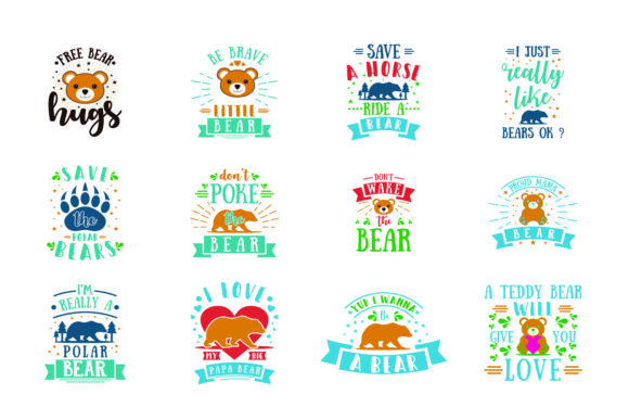 Download Free Bear Bundle Graphic By Graphicrun123 Creative Fabrica for Cricut Explore, Silhouette and other cutting machines.