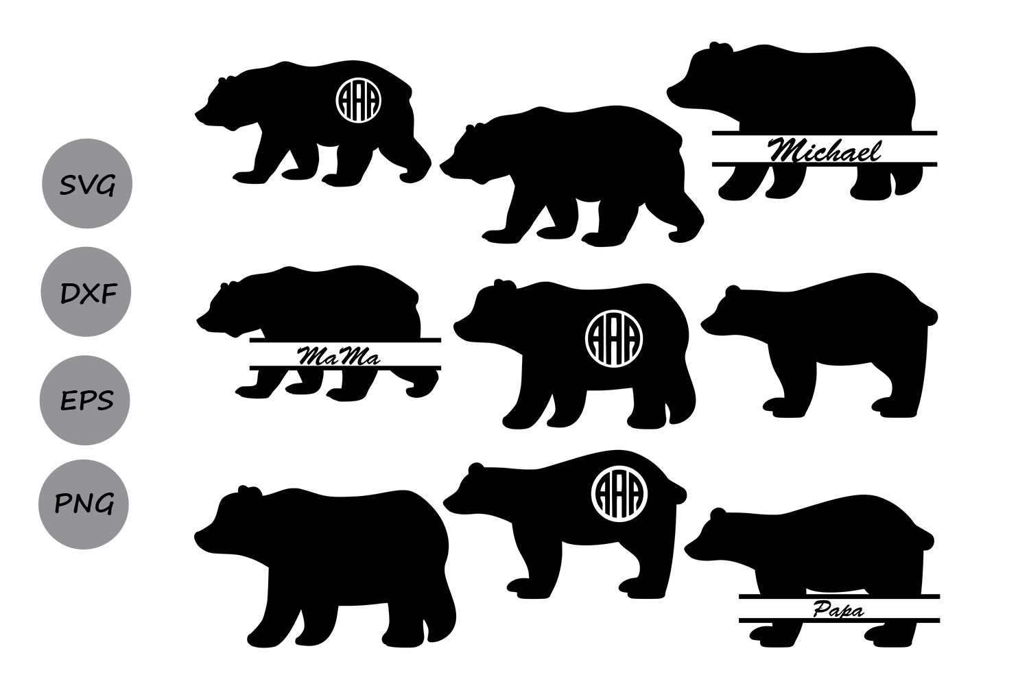 Download Free Bear Graphic By Cosmosfineart Creative Fabrica for Cricut Explore, Silhouette and other cutting machines.