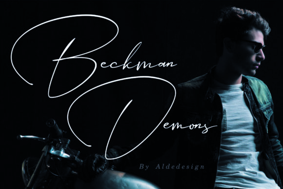 Print on Demand: Beckman Demons Script & Handwritten Font By aldedesign