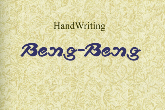 Print on Demand: Beng Beng Script & Handwritten Font By W INTEREST