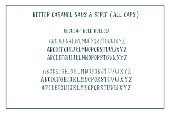 Print on Demand: Better Caramel Trio Script & Handwritten Font By Sronstudio - Image 3
