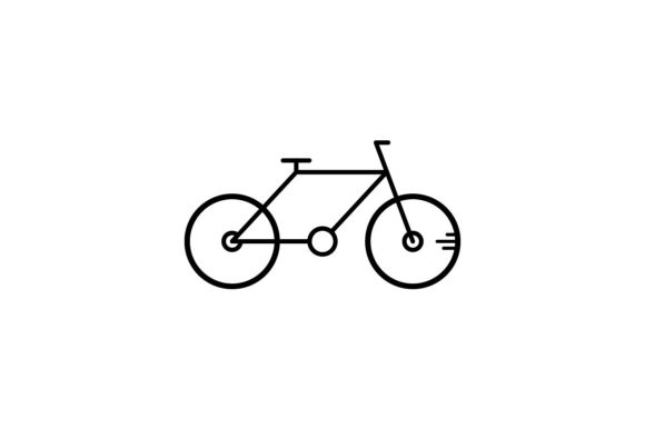 Print on Demand: Bicycle Graphic Icons By khld939 - Image 1
