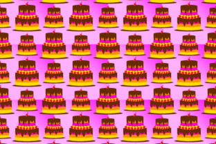 Download Free Birthday Pattern Background Shaped Tart Cake Graphic By for Cricut Explore, Silhouette and other cutting machines.