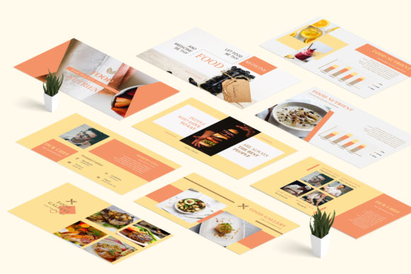 Download Free Bistro Restaurant Powerpoint Presentation Graphic By Tmint for Cricut Explore, Silhouette and other cutting machines.