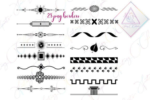 Print on Demand: Black Borders Clipart Graphic Illustrations By fantasycliparts
