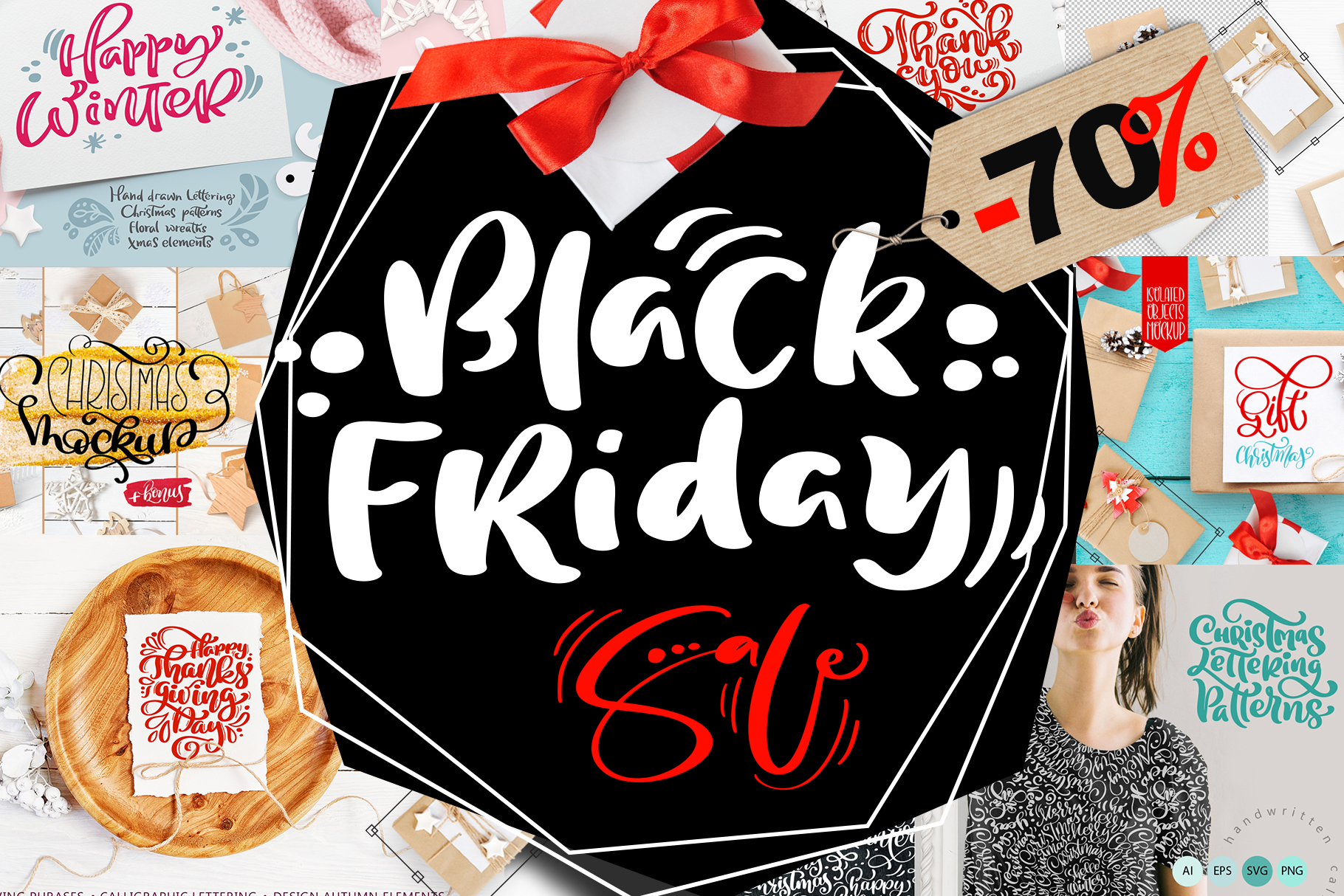 Black Friday Christmas Bundle Graphic By Happy Letters Creative Fabrica