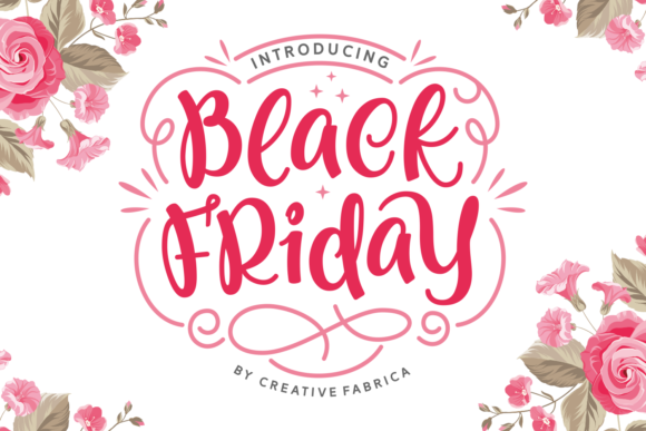 Print on Demand: Black Friday Script & Handwritten Font By Creative Fabrica Fonts