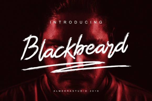 Print on Demand: Blackbeard Script & Handwritten Font By Almeera Studio