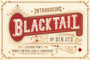Blacktail Family Font By Din Studio