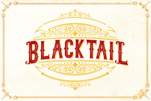 Blacktail Family Font By Din Studio Image 7