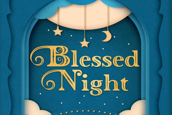 Download Free Blessed Night Font By Nurrehmet Studio Creative Fabrica for Cricut Explore, Silhouette and other cutting machines.