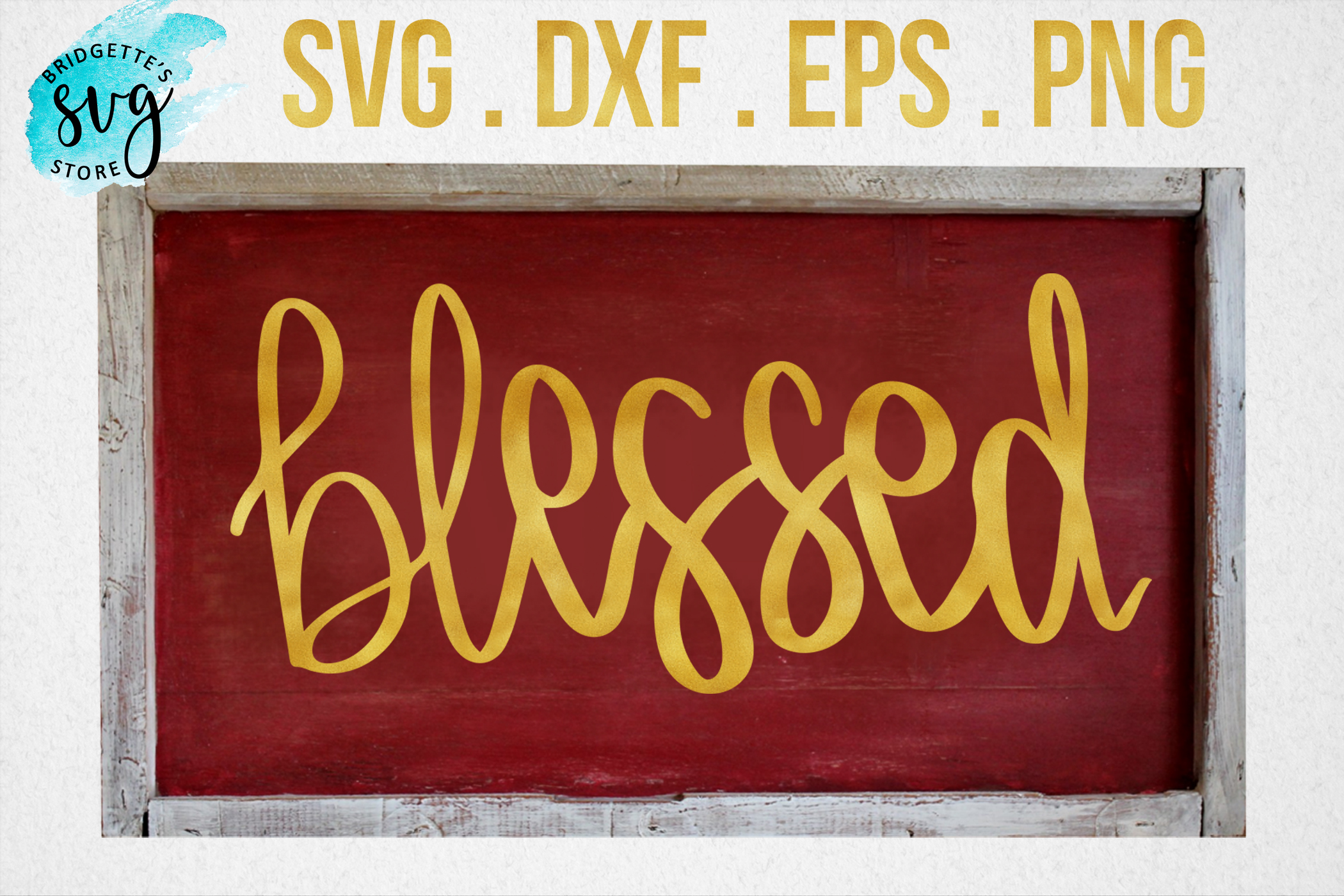 Download Free Blessed Graphic By Luxmauve Creative Fabrica for Cricut Explore, Silhouette and other cutting machines.