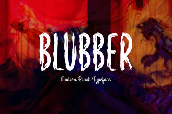 Print on Demand: Blubber Display Font By Shattered Notion