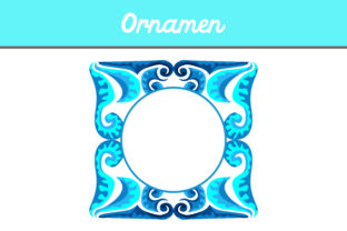 Blue Frame Ornament Graphic By Arief Sapta Adjie