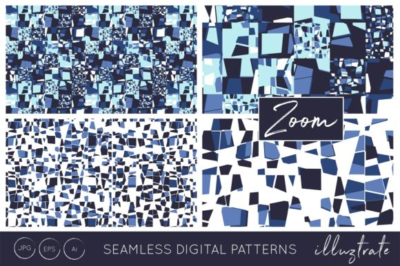 Print on Demand: Blue Texture Patterns Graphic Patterns By illuztrate - Image 2