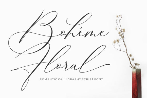 Print on Demand: Boheme Floral Script & Handwritten Font By 50Fox