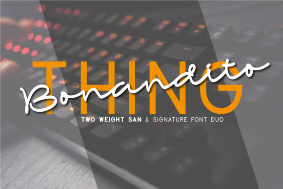 Print on Demand: Bonandito Thing Duo Script & Handwritten Font By 38.lineart