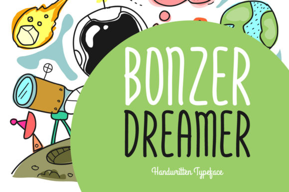 Print on Demand: Bonzer Dreamer Script & Handwritten Font By Shattered Notion