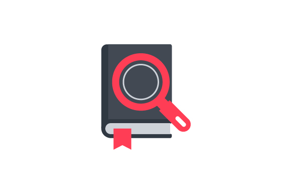 Download Free Book And Search Icon Graphic By Rudezstudio Creative Fabrica for Cricut Explore, Silhouette and other cutting machines.