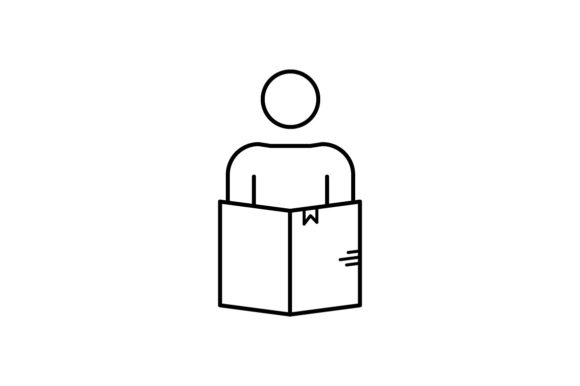 Print on Demand: Book Reading Graphic Icons By khld939