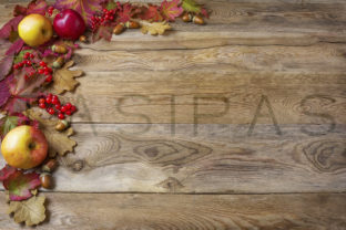 Download Free Border Of Apples On The Old Wooden Background Graphic By Tasipas for Cricut Explore, Silhouette and other cutting machines.