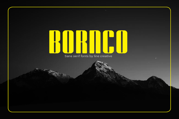Print on Demand: Bornco Sans Serif Font By Line creative