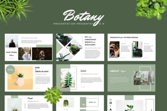 Botany Powerpoint Presentation Graphic By TMint