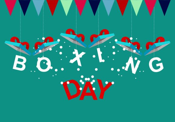Download Free Boxing Day Logo Graphic By Deemka Studio Creative Fabrica for Cricut Explore, Silhouette and other cutting machines.