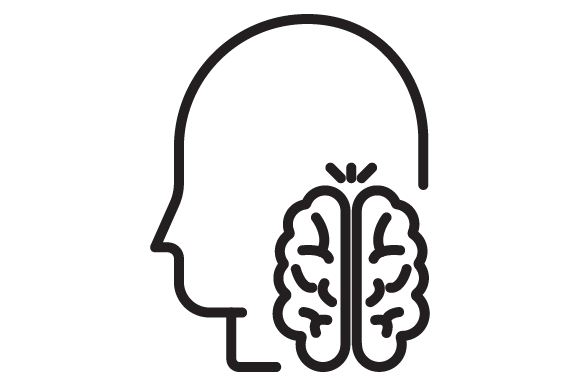 Print on Demand: Brain Activity Graphic Icons By RE stock