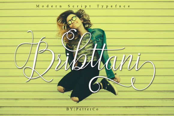 Print on Demand: Bribttani Script Script & Handwritten Font By Petterco