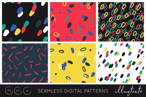 Print on Demand: Bright Hand Drawn Patterns Graphic Patterns By illuztrate