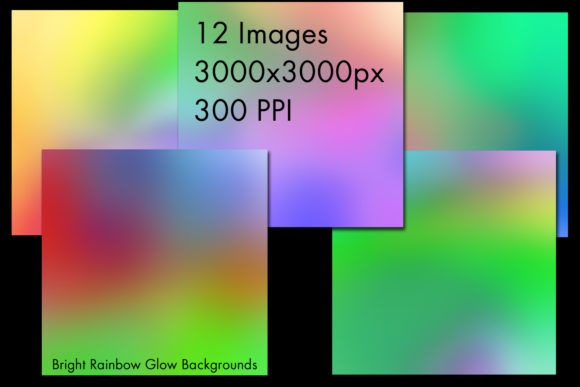 Print on Demand: Bright Rainbow Glow Backgrounds Graphic Backgrounds By SapphireXDesigns - Image 2