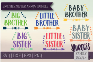 Brother Sister Arrow Bundle Graphic By burgessfamilydesign