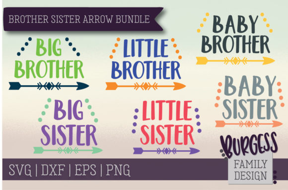 Brother Sister Arrow Bundle Gráfico Crafts Por burgessfamilydesign