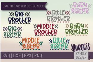 Brother Sister Dot Bundle Graphic By burgessfamilydesign