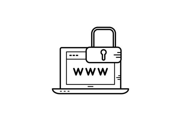 Print on Demand: Browser Lock Graphic Icons By khld939