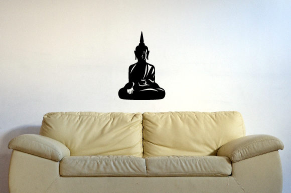 Buddha Silhouette Fits 24x39 Inch Wall Art Craft Cut File By Creative Fabrica Crafts