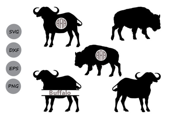 Print on Demand: Buffalo Monogram   Graphic Crafts By CosmosFineArt