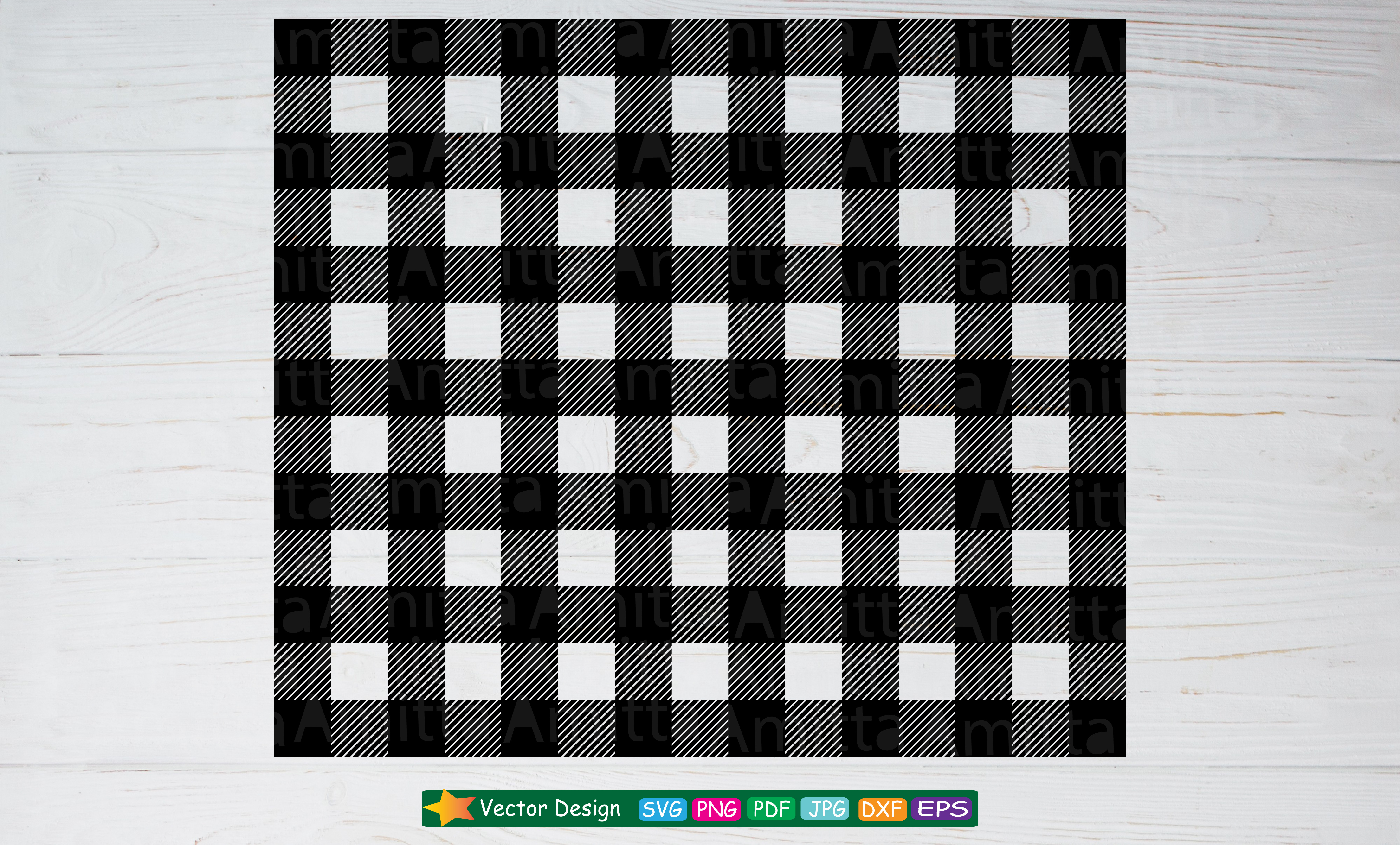 Download Free Buffalo Plaid Check Pattern Svg Graphic By Amitta Creative Fabrica SVG Cut Files