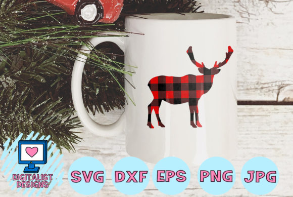 Download Free Buffalo Plaid Moose Svg Graphic By Digitalistdesigns Creative for Cricut Explore, Silhouette and other cutting machines.
